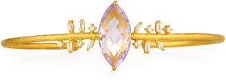 Indulgems Mixed CZ & Marquise Amethyst Bangle Bracelet