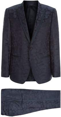 Dolce & Gabbana Floral Jacquard Satin Suit