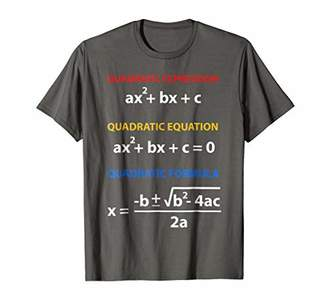 DAY Birger et Mikkelsen Quadratic equations formula examples shirt Pi 2019 T-Shi