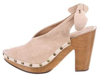 Ulla Johnson Suede Peep-Toe Booties