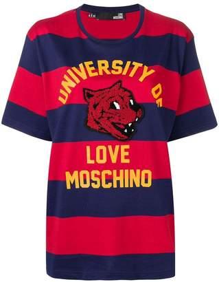 Love Moschino Mascot striped T-shirt