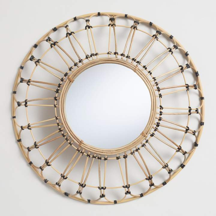 dorm room design, teen room design, girl dorm, girl teen, home decor, interior design, back to school room refresh, world market rattan mirror