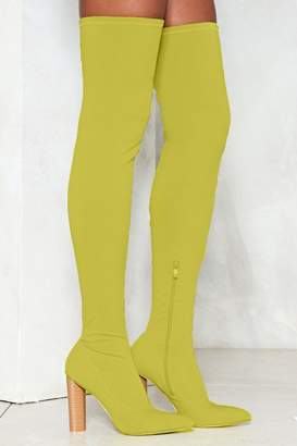 Nasty Gal Limelight Over-the-Knee Boot