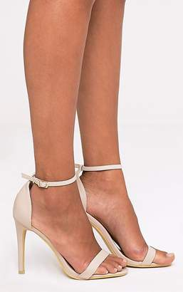 2bf0cf1b824414 PrettyLittleThing Clover Gold Metallic Strap Heeled Sandals