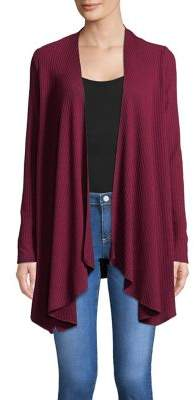 Context Ribbed Draping Cardigan