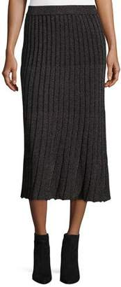 Rebecca Taylor Lurex® Metallic Ribbed Midi Skirt