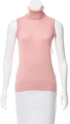 Dolce & Gabbana Sleeveless Turtleneck Sweater
