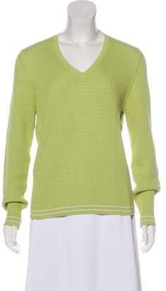 Malo V-Neck Knit Sweater