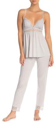 Eberjey Talia Slim Lace Hem Pajama Pants