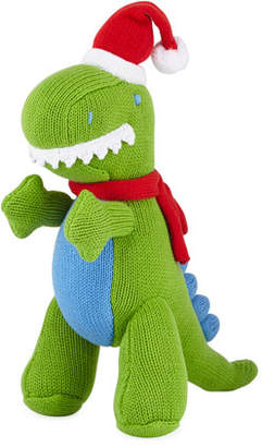 Zubels Knit Christmas T-Rex Doll, 12""