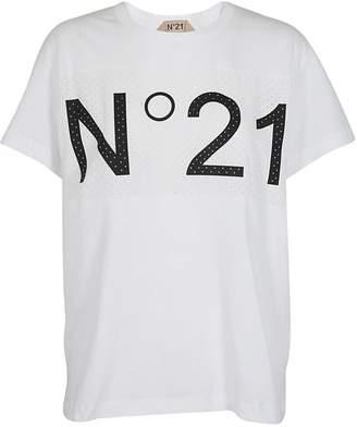 N°21 N.21 Logo Mesh Paneled T-shirt