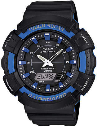 Casio Mens Blue Bezel Black Strap Solar Sport Watch ADS800WH-2A2
