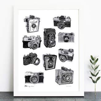 Ros Shiers Vintage Camera Print