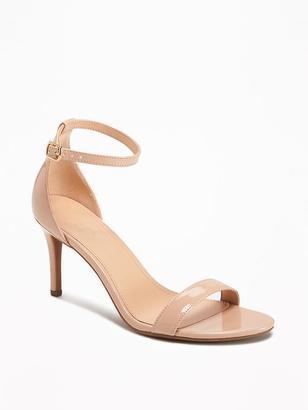 Faux-Patent Stiletto Sandals for Women $34.94 thestylecure.com