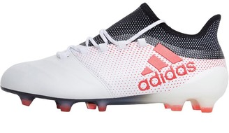 16bbe7a0e8a2 adidas Mens X 17.1 FG Leather Football Boots Footwear White Real Coral Core  Black