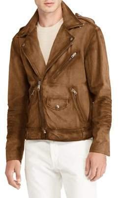 Polo Ralph Lauren Suede Asymmetrical Biker Jacket