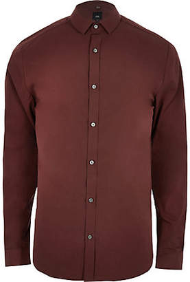 River Island Rust brown long sleeve shirt