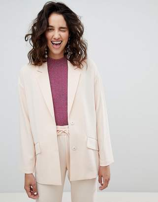 Monki Tailored Popper Detail Blazer