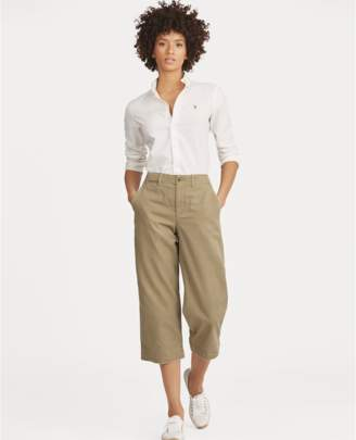 Polo Ralph Lauren Cropped Wide-Leg Chino Pant