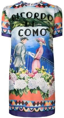 Dolce & Gabbana short-sleeve printed dress