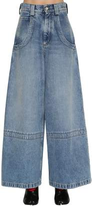 Maison Margiela Wide Leg Washed Denim Jeans
