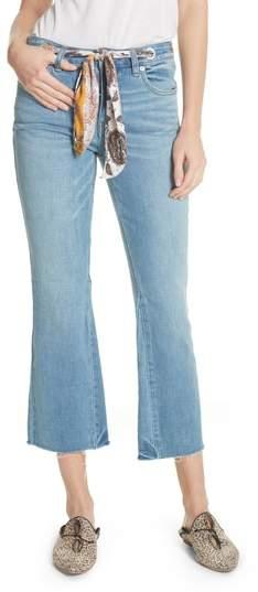 Belt Out High Waist Crop Bootcut Jeans