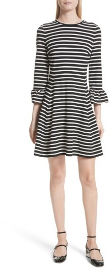 Women's Kate Spade New York Stripe Fit-And-Flare Dress