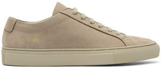 Common Projects Woman By Woman by Beige Nubuck Original Achilles Low Sneakers