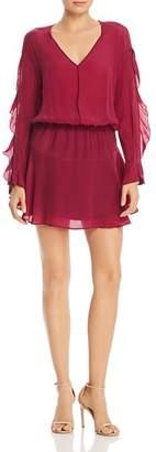 Karina Grimaldi Camila Ruffled Sleeve Mini Dress