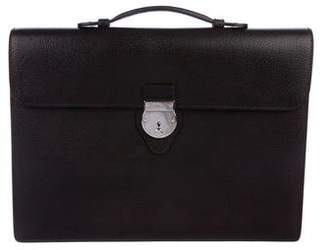 Gucci Leather Push-Lock Briefcase