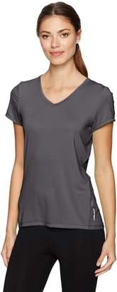 Head Women's Emily Burnout Stripe Short Sleeve Top