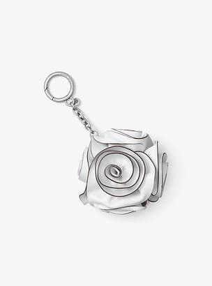 Michael Kors Origami Rose Leather Key Chain