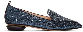 Nicholas Kirkwood Navy Glitter Beya Loafers