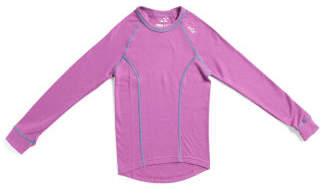 Girls Double Layer Thermal Base Layer Crew Top