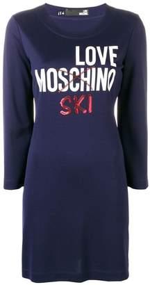 Love Moschino Love Ski sweater-dress