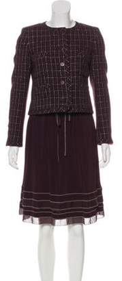 Chanel Tweed Skirt Suit Purple Tweed Skirt Suit