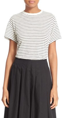 Women's Vince Relaxed Stripe Tee $85 thestylecure.com