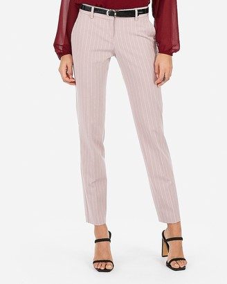 Express Low Rise Striped Ankle Columnist Pant