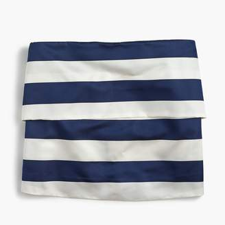 J.Crew Pleated satin top in stripe