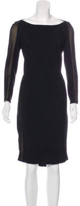 Akris Punto Mesh-Paneled Midi Dress