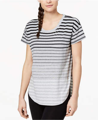 Calvin Klein Striped Split-Hem T-Shirt