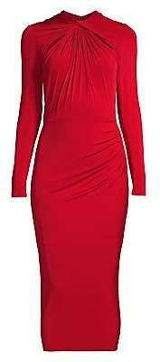 Jason Wu Collection Women's Long Sleeve Twist Detail Jersey Midi Dress
