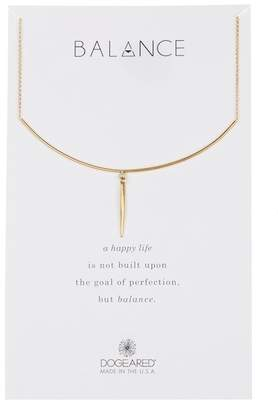 Dogeared Balance Delicate Bar & Spear Charm Necklace