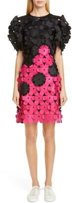 PASKAL clothes Laser Cut Floral Applique Dress