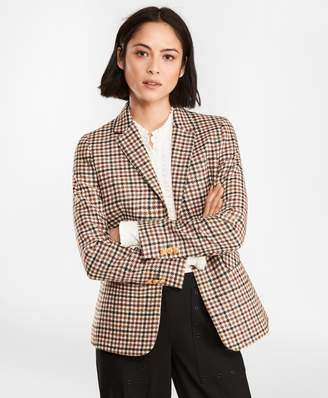 Brooks Brothers Checked Wool Twill Jacket