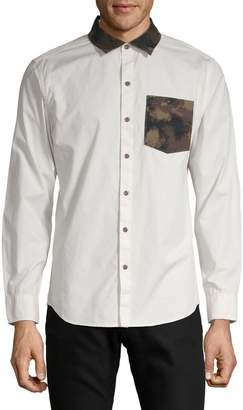 Highline Collective Contrast Long Sleeve Button-Down Shirt