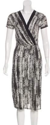 Max Mara V-Neck Midi Dress Black V-Neck Midi Dress