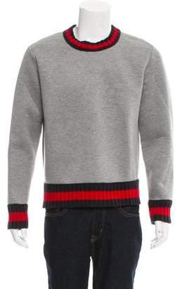 Gucci Wool-Trimmed Web Sweatshirt