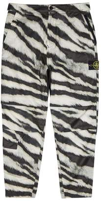 Stone Island White Tiger Coated Shell Trousers