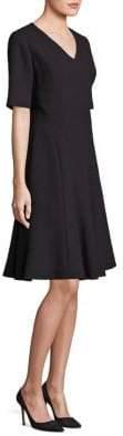 Lafayette 148 New York Mirasol Wool Nouveau Crepe Dress